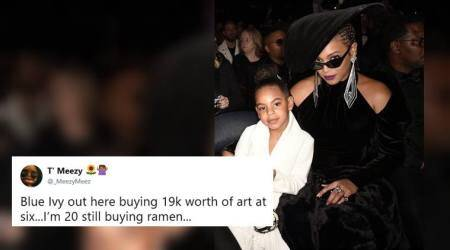 Beyoncé's 6-yr-old daughter Blue Ivy Carter casually bids $19,000 on art and Tweeple can't keep calm