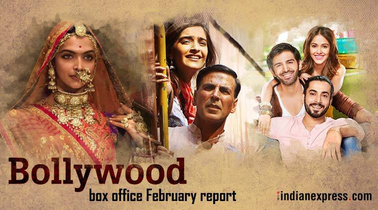 Bollywood box office in february padman and padmavati continue their reign sonu ke titu ki - Box office bollywood records ...