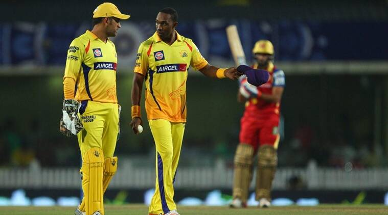 Indian Premier League, IPL 2018, MS Dhoni, Dhoni CSK, Dwayne Bravo CSK, Chennai Super Kings, Mark Wood, sports news, cricket, Indian Express