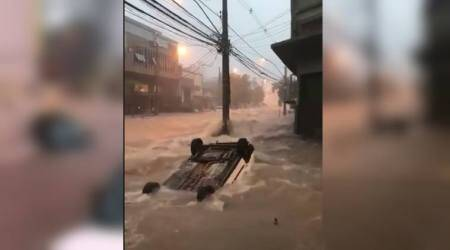 WATCH: This scary video of vehicle being washed away during flash flood in Brazil is going viral