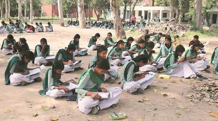 Final exams in govt schools of Punjab: On the floor, under the sun & trees