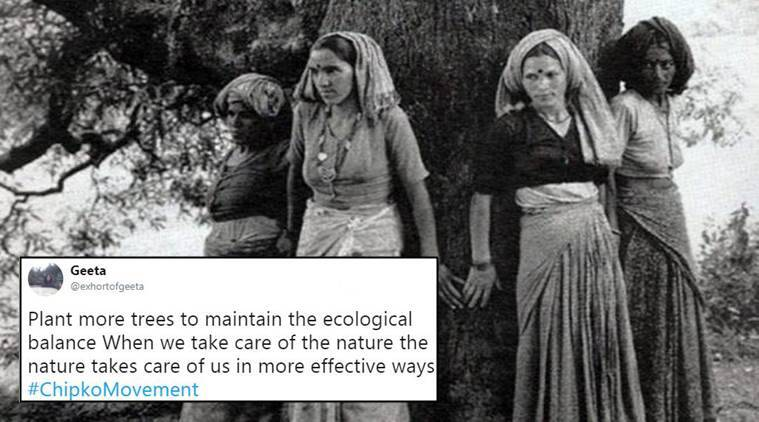chipko movement, what is chipko movement, chipko movement founders, when did chipko movement start, chipko movement twitter reactions, google doodle, google doodle on chipko movement, google doodle today, indian express, indian express news