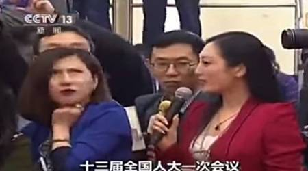 VIDEO: Chinese journalist loses media accreditation for rolling eyes at fellow reporter