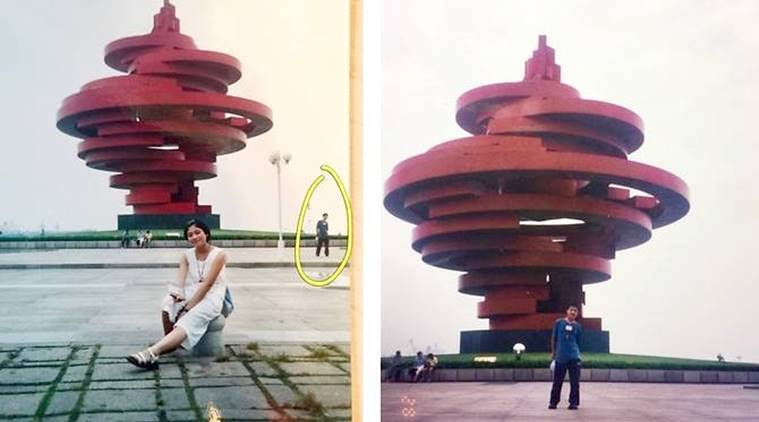couple in China have discovered that they both visited May Fourth Square as teenagers