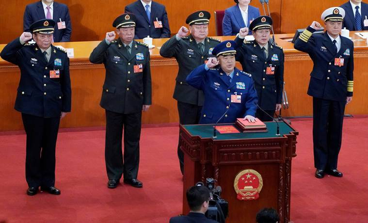 china defence minister, new china cabinet, new defence minister china, lt gen wei fenghe, xi jinping new ministers, indian express
