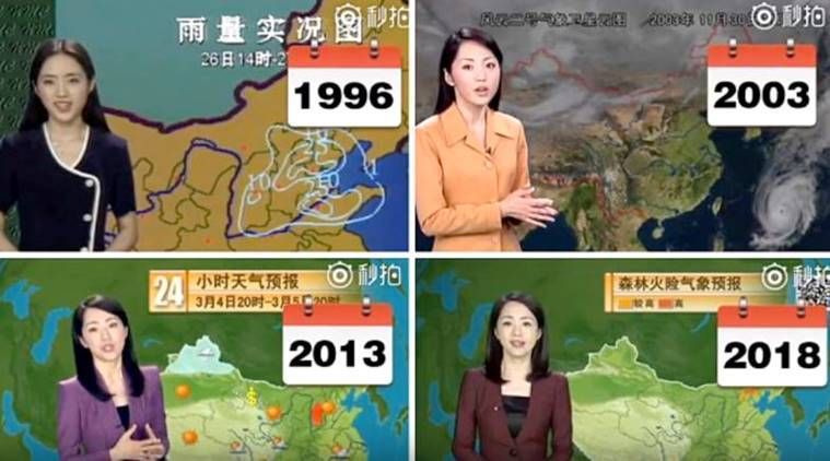 Chinese weather forecaster girl, Chinese weather forecaster girl Yang Dan, Chinese weather forecaster girl 22 years ageless