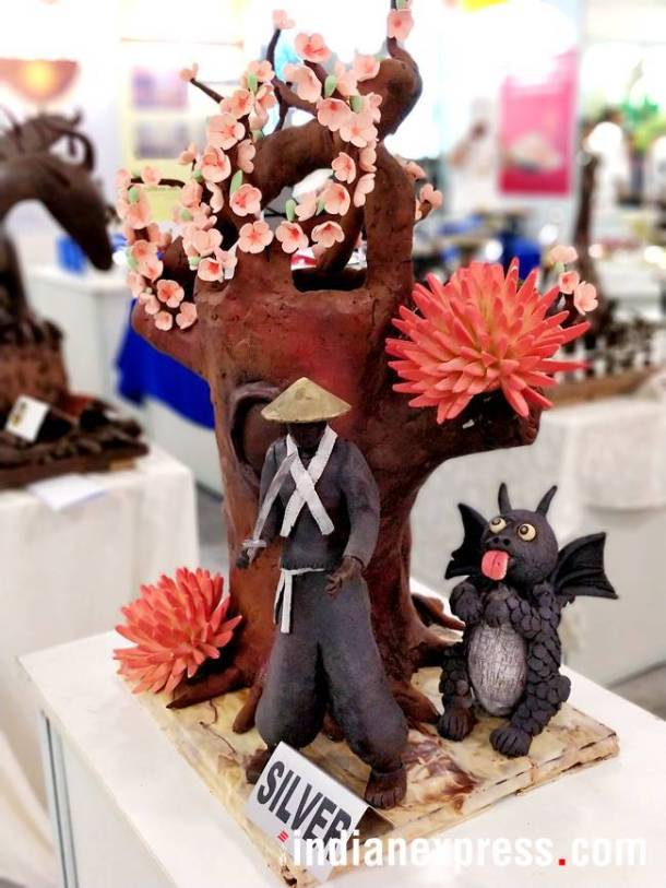 These chocolate carvings remind us of the 'chocolicious' world of Charlie and the Chocolate Factory