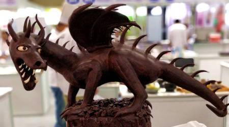 aahar international 2018, culinary art forum, aahar 2018, chocolate mania, chocolate cravings, chocolate art, chocolate cakes, food, food art, indian express, indian express news