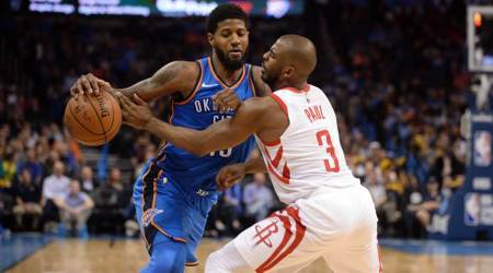 NBA roundup: Rockets top Thunder for 16th straightwin