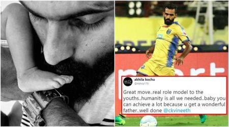 Kerala footballer CK Vineeth writes newborn son's religion as 'NIL' on birth certificate; garners praise on Twitter