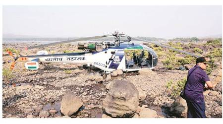 Coast Guard chopper makes emergency landing, fourinjured