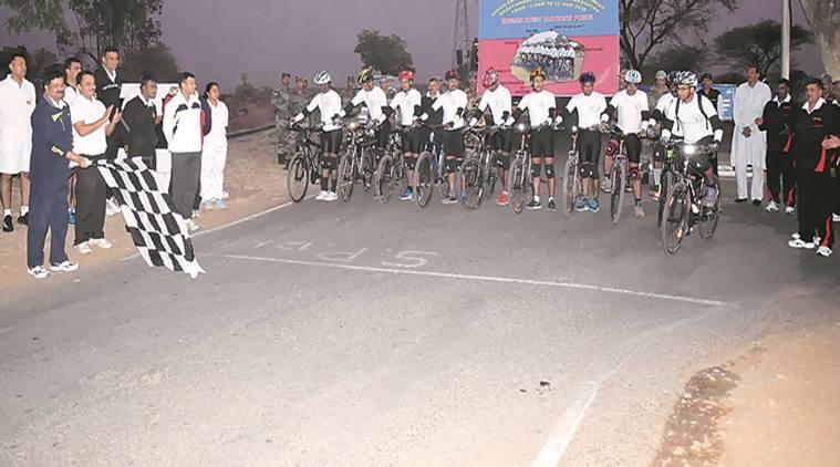 cycling expedition, pune, indian army, indian express