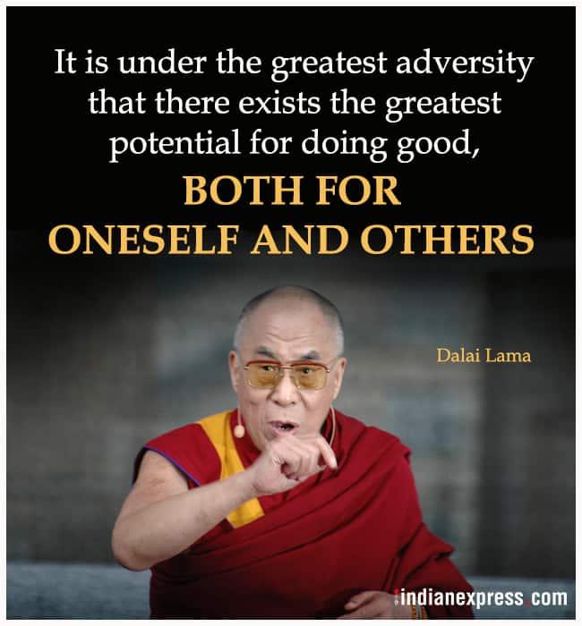 dalai lama quotes, famous quotes by dalai lama, famous quotes by dalai lama, indian express, indian express news