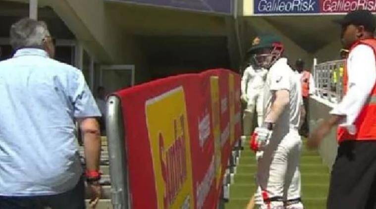 David Warner in heated exchange with spectator in Cape Town