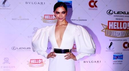 Deepika Padukone works this sculpted gown like the powerful diva she is