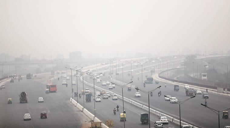 Delhi weather Delhi temperature Delhi climate Delhi pollution Delhi smog air pollution Delhi news Indian Express news
