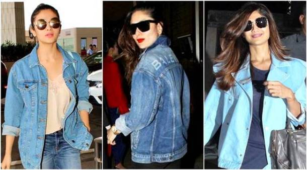 denim jackets, bollywood denim jackets, embroidered denim jacket, patchwork denim jacket, Alia Bhatt, Kareena Kapoor Khan, Shilpa Shetty, Sonam kapoor, sonakshi sinha, parineeti chopra, aishwarya rai bachchan, shraddha kapoor, celeb fashion, bollywood fashion, indian express, indian express news