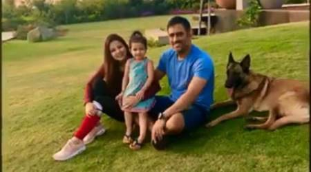 MS Dhoni is enjoying time away from cricket.