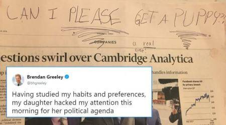 Here's how an 8-yr-old girl used the Cambridge Analytica-Facebook scandal to get a puppy