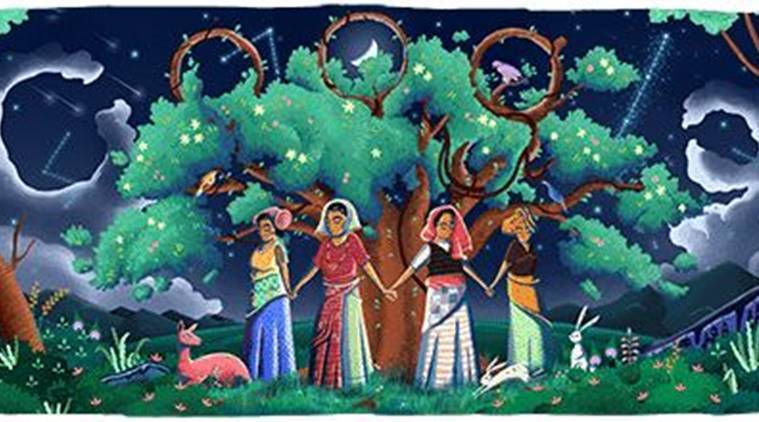 Google celebrates 45th anniversary of Chipko Movement through a doodle