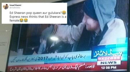 Pak news channel refers to Ed Sheeran as 'Brit pop queen, best female singer'; results in a laugh riot on the Internet