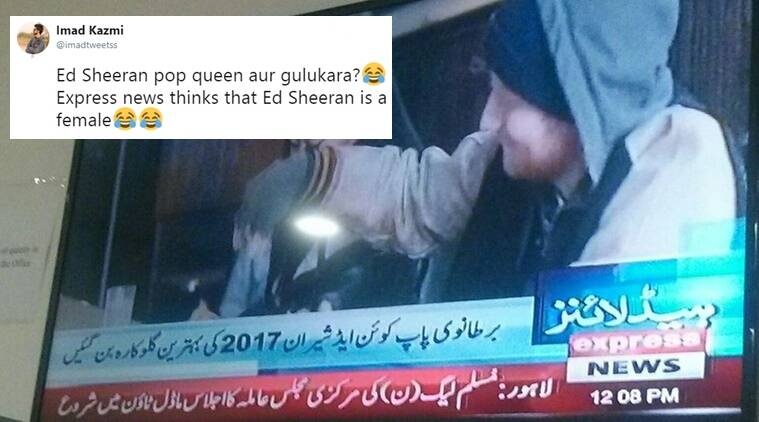 Pak news channel refers to Ed Sheeran as 'Brit pop queen