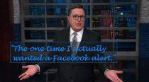 VIDEO: Stephen Colbert thinks Cambridge Analytica should have been a Facebook alert