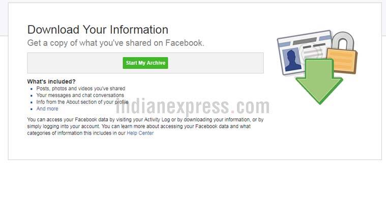 Facebook, Facebook data, Facebook download data, How to download Facebook data, Facebook data archive, Facebook data scandal