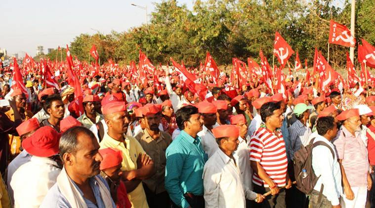 Why are farmers protesting in Mumbai, Maharashtra