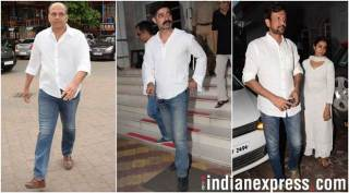 Narendra Jha's prayer meet: Ashutosh Gowariker, Sushant Singh, Kay Kay Menon and other B-town celebs attend