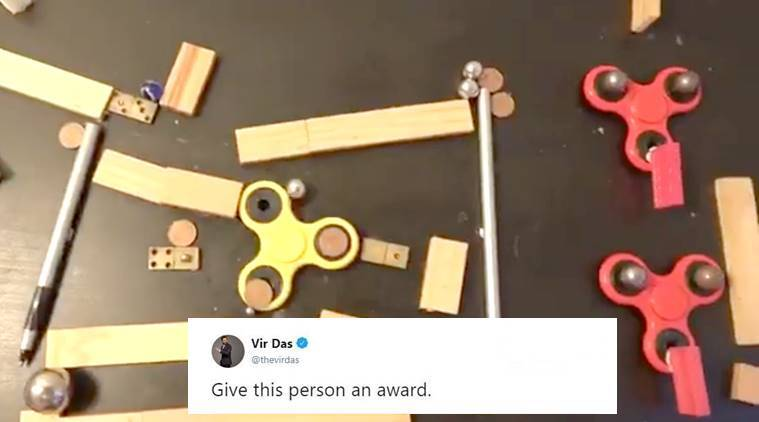 Fidget Spinners, Fidget Spinners video, viral video of Fidget Spinners, Fidget Spinner's chain reaction