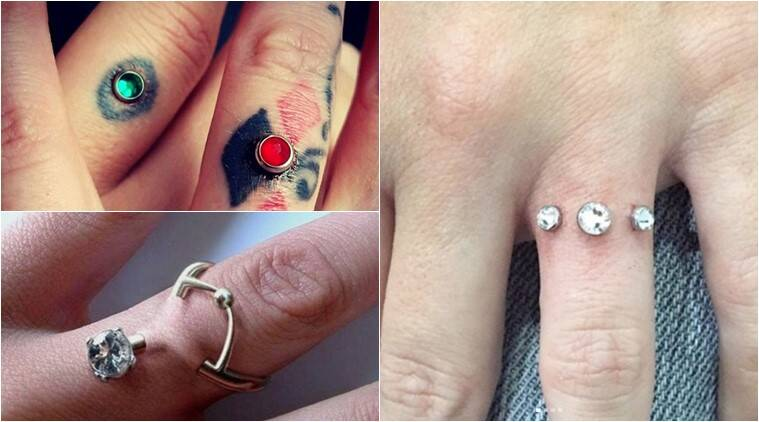 ring instagram people wearing finger warning trend are piercing some instead final engagement an them rings their against piercings taken but dermal wedding diamond recently of hold has professionals in news the