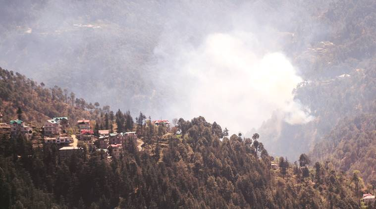 rising mercury fuel forest fire fears in Himachal