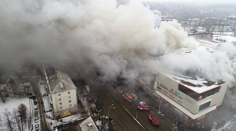 Fire exits blocked in Russian shopping mall devastated by blaze