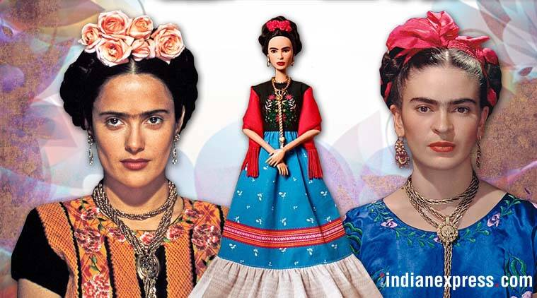 frida kahlo, salma hayek, barbie, frida kahlo barbie, frida kahlo barbie controversy, frida kahlo barbie row, frida barbie criticism, viral news, indian express