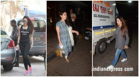 celeb photos included kareena kapoor, malaika arora khan, and sara ali khan