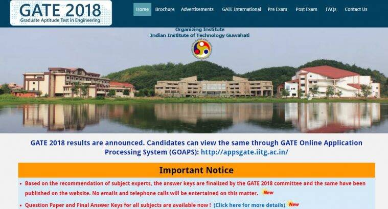 Gate Results: GATE 2018 Results: Score Card To Release On March 20