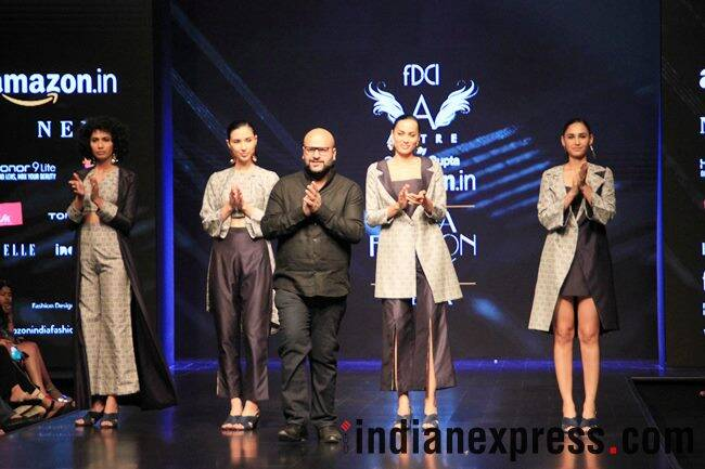 Amazon India Fashion Week AW'18, AIFW 2018, AIFW Day 4, Charu Vij, Diksha Khanna, Gautam Gupta, Kanika Goyal, Pinnacle by Shruti Sancheti, Priyam Narayan, Sahil Kochhar, celeb fashion, fashion week, indian express, indian express news
