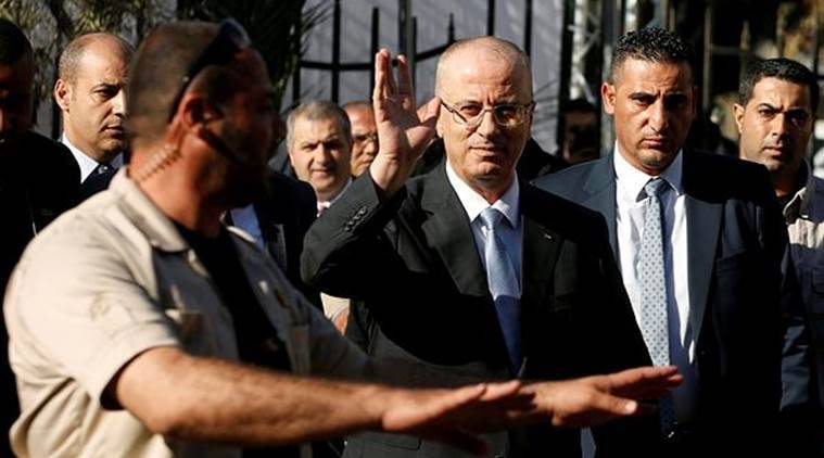 Palestinian Prime Minister Rami Hamdallah was unharmed and went on to inaugurate a long-awaited sewage plant project in the northern part of the strip. (Photo: Reuters)