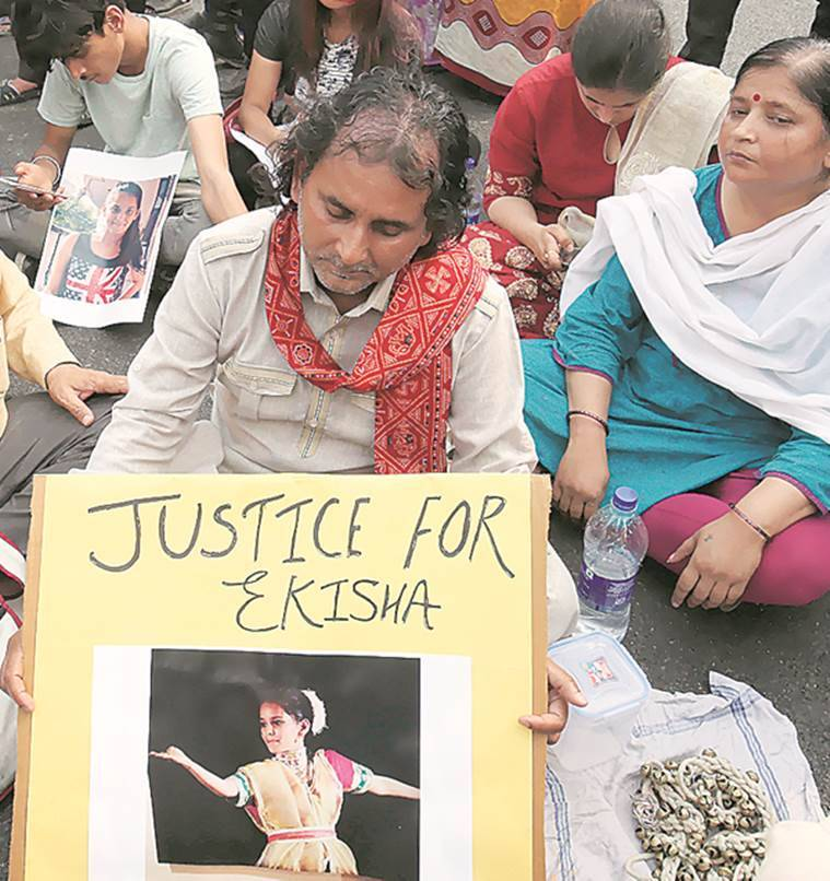 Girl found hanging: HRD seeks report, parents stage protest demanding CBI probe