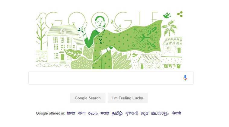 Google celebrates India's first female physician with a doodle