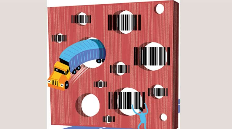 GST, GST Retailers, e-way bill system, Goods and services tax, RFID card readers, business news, Indian express