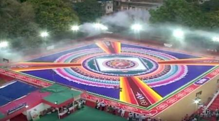 WATCH: This 18,000 sq ft RANGOLI in Thane for Gudi Padwa will blow your mind