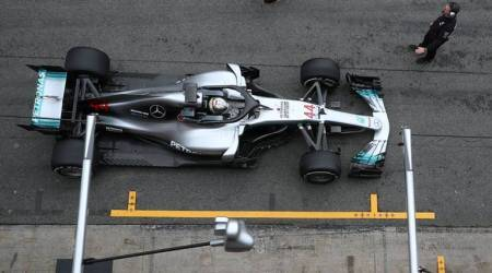 Lewis Hamilton leads busy day as Formula One tests resume after snowfall