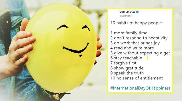 international day of happiness, happiness day, happy tweets, joy, life, love, what is happiness, happiness meaning, indian express, indian express news