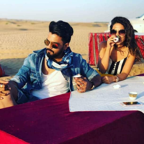 Hina Khan and boyfriend Rocky Jaiswal Dubai holiday