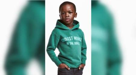 H&M, H&M monkey hoodie, H&M partners with south african marketing team, coolest monkey in the jungle hoodie H&M, H&M racism slogans, H&M Allah socks, Indian express, Indian express news