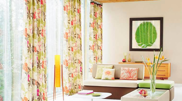 Home decor, bright airy curtains, HomeLane Design, HomeLane Design pattern