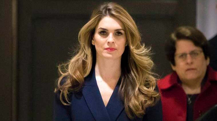 hope hicks, trump aide resign, white house, communications director, donald trump, united states, us president, indian express