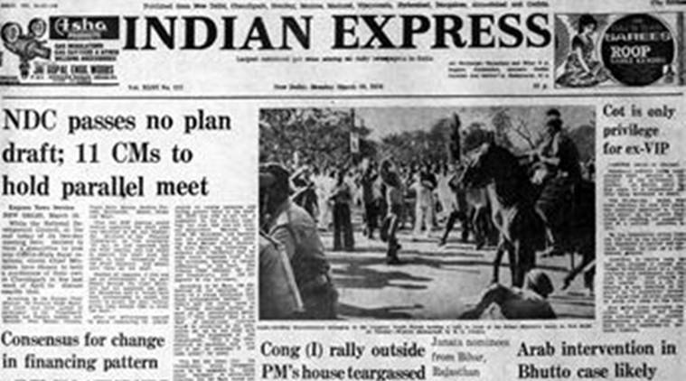 Forty years ago, Express Front Page Forty Years Ago, Z A Bhutto, Z A Bhutto Hanging, Editorial News, Indian Express, Indian Express News
